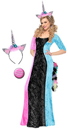 Black & Pastels Unicorn Plus Size Supersize Halloween Costume Basic Kit 3x - Varys Costume Pattern