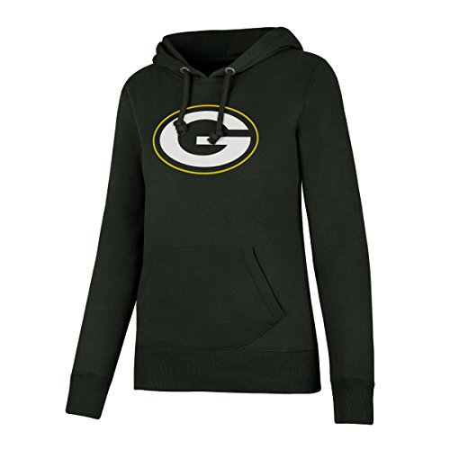 NFL Green Bay Packers Women's OTS Fleece Hoodie, Dark Green, Small