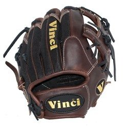 Infielders Glove Walnut Leather - Vinci Optimus Series JV 11.5 inch (Right handed thrower)