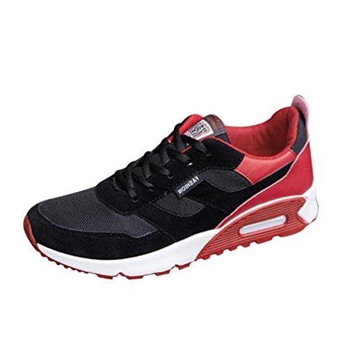 Uomo Corsa Scarpe Rosso Da Ginnastica Sneakers Viaggio Sportive Running Beautyjourney Lavoro Estive xtdT00w
