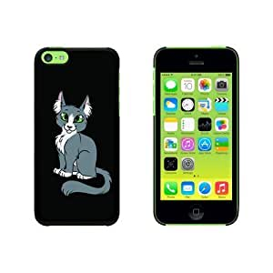 Gray Grey Cat On Black Snap On Hard Protective For SamSung Galaxy S6 Phone Case Cover - Black