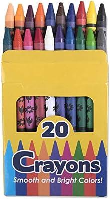 Paquete de 20 ceras al por mayor, 96 paquetes por caja: Amazon.es: Juguetes y juegos