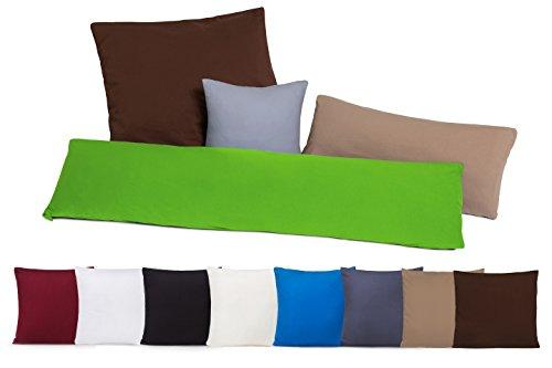 Doppelpack Kissenbezüge Kissenbezug Kissenhülle mit Reißverschluss aus 100% Baumwolle - 10 Farben und 4 Größen sand / cappucino 40 x 80 cm
