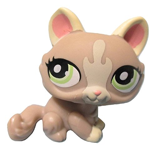Littlest Pet Shop Gray and Cream Cat with Lime Green Eyes #1370 Replacement Part LOOSE//Packaged in Parts Bag LPS