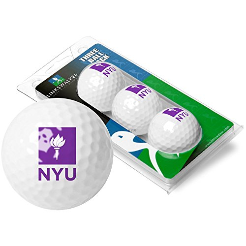 NCAA New York University Violets - 3 Golf Ball Sleeve