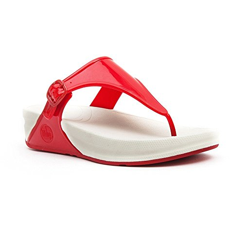 Superjelly Flip Women's fitflop Flops Rubber Red Jelly Sandal AwPggU8qx