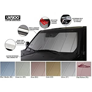 Covercraft UVS100 - Series Custom Fit Windshield Shade for Select Mercedes-Benz M Class Models - Triple Laminate Construction (Rose)