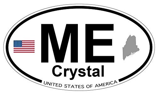 Crystal, Maine Oval Sticker (Crystal Maine)