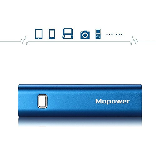 Portable Charger,Mopower 3000mAh Power Bank Lipstick-shaped Aluminum Metal External Backup Battery Pack for iPhone 6 4 5S 4S, iPad ,Galaxy S6 Note 3, iPod,HTC,Sony,LG, Mobile Digital Devices