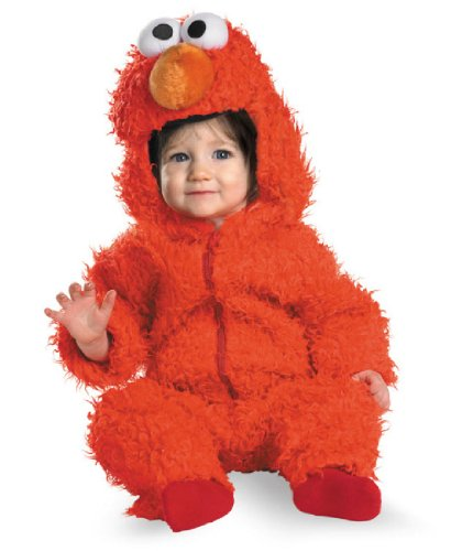 Elmo Infant Plush Halloween Costume, Red, 12-18 Months (Sesame Street Halloween Costumes)