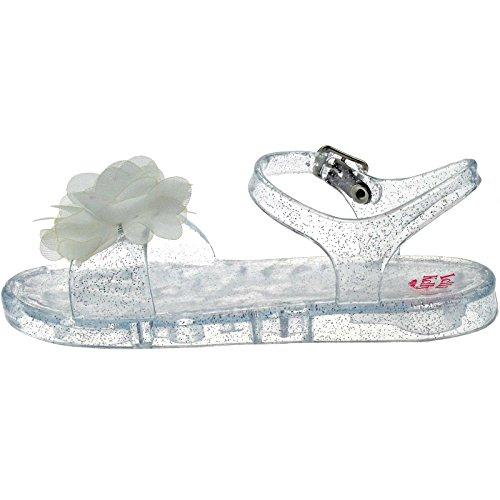 Lelli Kelly LK9944 (AA01) Transparent White Fiore Sandals-23 (UK 6)