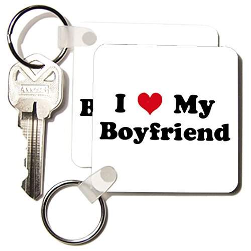 3dRose I Love My Boyfriend - Key Chains, 2.25 x 4.5 inches, set of 2 (kc_16576_1)