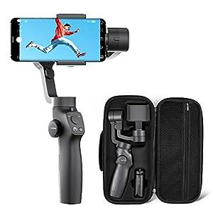 VanTop Nimbal M3 Stabilizzatore Gimbal - Stabilizzatore Smartphone a 3 Assi, 15 Ore Durata della Batteria, con Custodia Portatile e Mini Treppiede, per iPhone e Android Samsung Huawei Xiaomi 4 spesavip