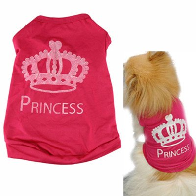 Howstar Pet Clothes, Dog Love Printed Shirts Puppy Pet Clothing Costumes Cat Tank Top Summer Vest (Pink B, M)