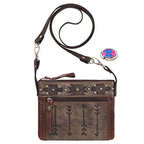 Body Brown West Leather Small Belt Handbag Cross Purse Holder Rider Trail American Bundle Bag zI1w5qdw