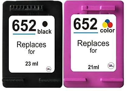 2 x Cartuchos de Tinta Compatibles para HP 652 XL y 652 XL DJ 1115 ...