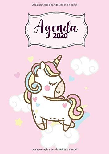 Agenda 2020: Tema Unicornios Rosa Agenda Mensual y Semanal + ...