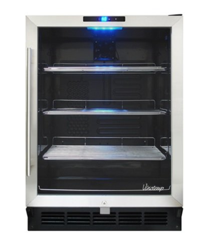 Vinotemp VT-WC58GNV-B Stainless Steel (58) Bottle Wine Cooler For Sale