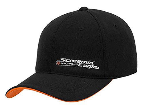 Harley-Davidson Mens Screamin' Eagle Signature Performance Cap HARLMH0309 (L/XL) (Harley Screamin Eagle)