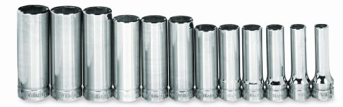 Williams MSBD-12HRC 12-Piece 3/8-Inch Drive Metric Deep 6 Point Socket Set