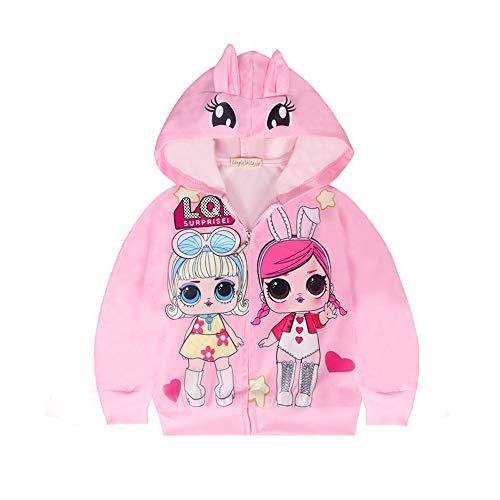 Sudadera con capucha para niñas pequeñas LOL Surprise disfraz para niños con cremallera