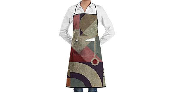 Ameok-Design My Bauhaus - Delantal de Cocina Unisex Ajustable con ...