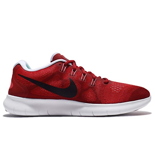 NIKE Free RN 2017 Mens Running Trainers 880839 Sneakers Shoes (UK 10.5 US 11.5 EU 45.5, University Red Port Wine 602)
