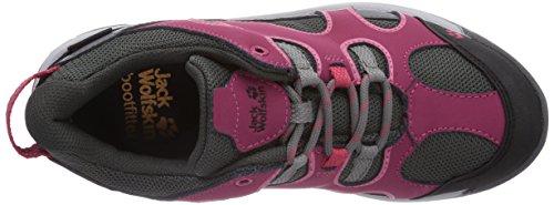 Jack Wolfskin Crosswind Texapore Low K - Zapatillas de senderismo Unisex Niños Rosa - Pink (azalea red 2081)