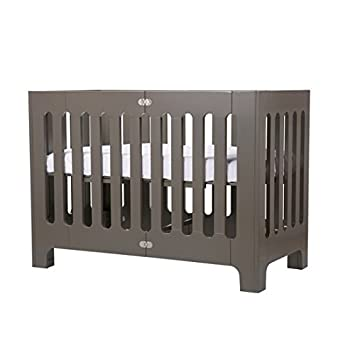 size 40 bc8cd e9f80 Bloom Alma Papa Modern Folding 3-in-1 Convertible Crib in Frosted Grey