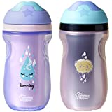 Tommee Tippee Insulated Sipper Tumbler, Girl, 9 Ounce, 2 Count