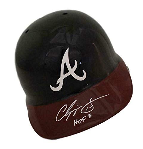 Chipper Jones Autographed Atlanta Braves Replica Batting Helmet HOF BAS 21614 - Beckett Authentication