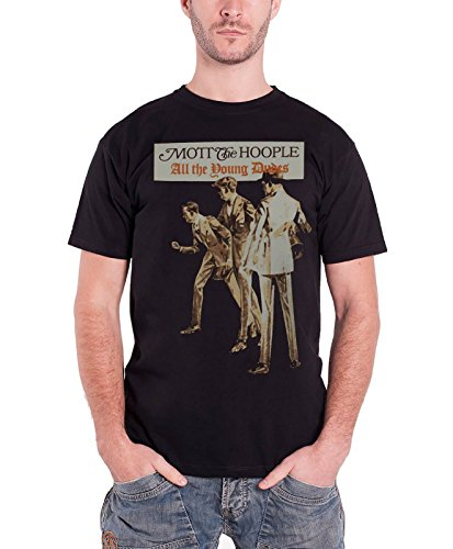 Mott The Hoople All The Young Dudes Official Mens New Black T Shirt