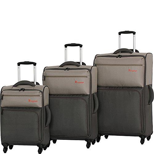 it luggage DuoTone 4 Wheel 3 Piece Set, Atmosphere/Dark Gull Grey by IT Luggage