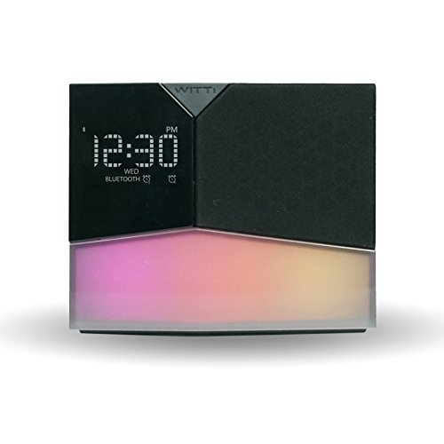 WITTI Beddi Glow SE App Enabled Intelligent Alarm Clock with Wake-up Light, Bluetooth Speaker and USB Charging Station