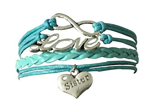 Infinity Collection Sister Bracelet -Sister Jewelry- Sister Charm Bracelet, Sister Bracelet for Women, Teens & Girls