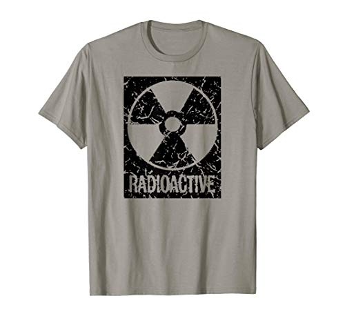 Funny Vintage Distressed Radioactive symbol Halloween shirt ()