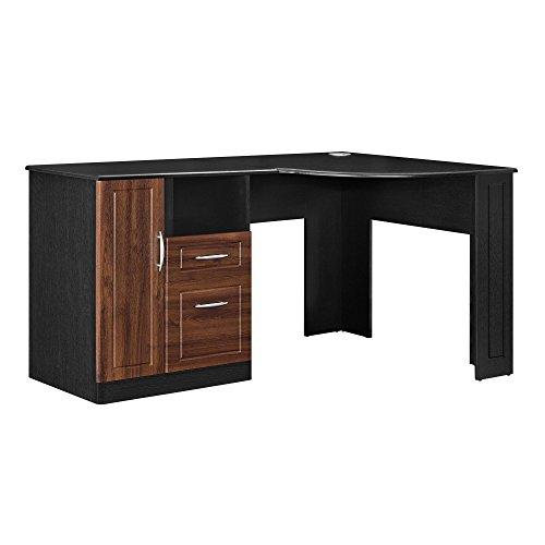 Ameriwood Home Avalon Corner Desk, Black/Cherry
