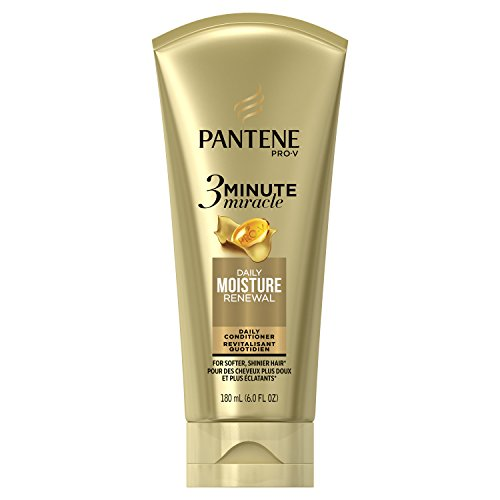 Pantene Moisture Renewal 3 Minute Miracle Deep Conditioner, 6 Fluid Ounce (Pantene 3 Minute Miracle Moisture Renewal Deep Conditioner)