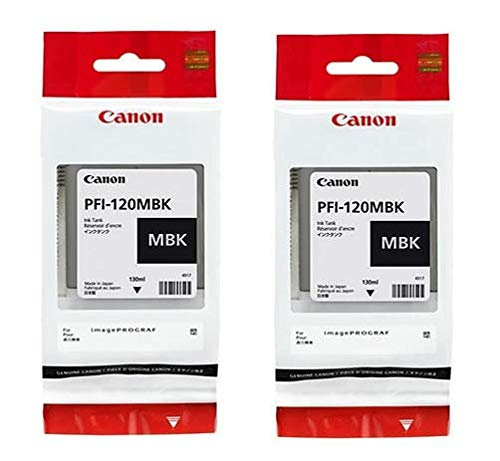 Canon PFI-120MBK 2 Pigment Matte Black 130ml Ink Tanks in Retail Package