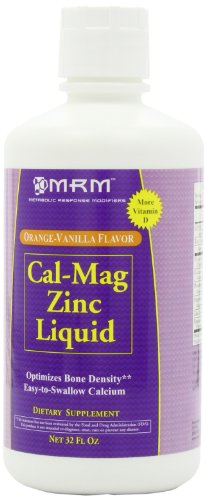 Mrm Cal-mag-zinc liquide, Orange-Vanille, 32 onces,