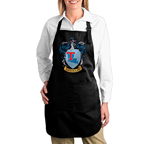 [JSSAD Custom Denim Louisiana Tech University Ravenclaw Crest Cooking Apron For Adult's Black] (Ravenclaw Mascot)
