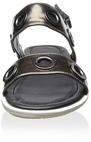 Ateljé 71 Sandalo Donna A Doppia Fascia Antracite
