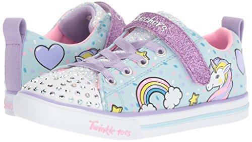 Skechers Kids Girls' Sparkle LITE-Unicorn Craze Sneaker, Light Blue/Multi, 9 Medium US Toddler by Skechers (Image #5)