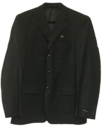 Pinstripe Jacket Blazer Black (Claiborne Components Men's Wool Sport Jacket (44L, Black Pinstripe))