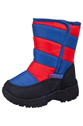 Caribou Junior Kid's Childrens Warm Fleece Ski Snowboard Snowboots Snow Boots Red 9 Child US