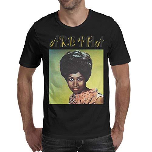 Aretha Franklin Tshirt Men Short Sleeve Black Lament Aretha Franklin's Death