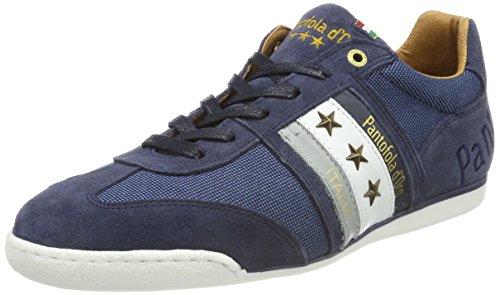 d'Oro Imola Sneaker Dress Low Herren Pantofola Canvas Uomo Blues Blau TwdRxnS