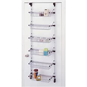 Organize It All Basic Overdoor 6-Basket Unit (17726W)
