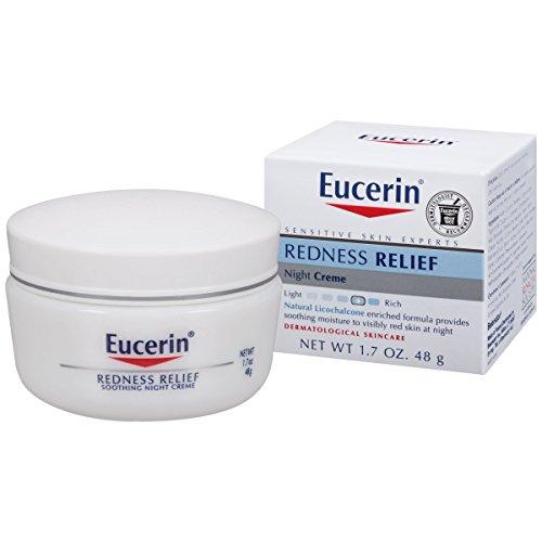 Sensibles Eucerin peau rougeurs soulagement apaisant Creme de nuit 1,7 oz