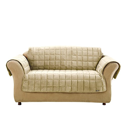 SureFit  Deluxe Sofa Furniture Cover with arms, Ivory